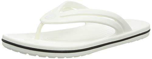 Crocs Damen Crocband Flip W Zehentrenner, White, 39/40 EU