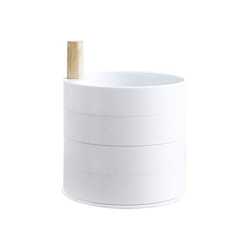 Aqiong Hibeilinq 4 Schicht 360 Grad drehbaren Holz Schmuck Storage Box...