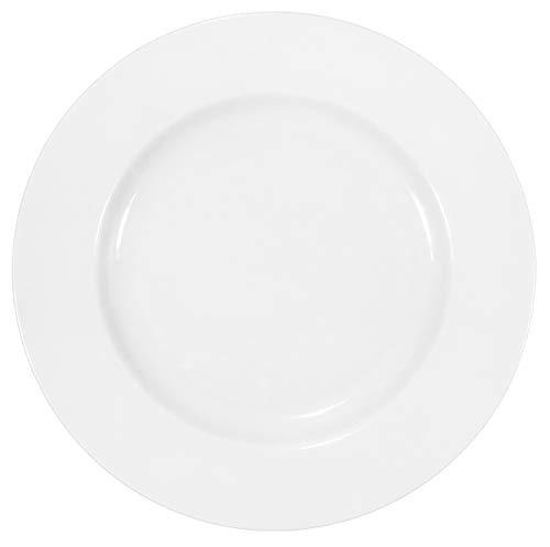 12 Stück Flache Teller im Set aus echtem Porzellan Ø 240 mm weiß...