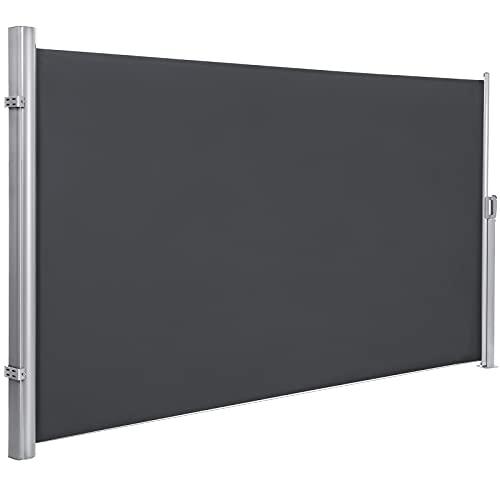 SONGMICS 180 x 350 cm (H x L), Seitenmarkise für Balkon und Terrasse,...