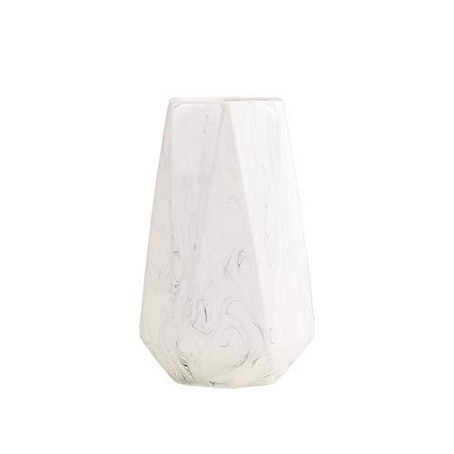 HCHLQLZ 20cm Weiß Marmor Vase Keramik Vasen Blumenvase Deko...