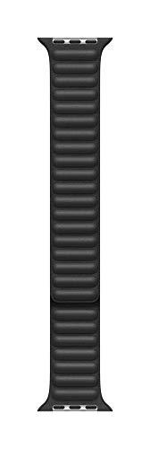 Apple Watch (44mm) Lederarmband mit Endstück, Schwarz - Large