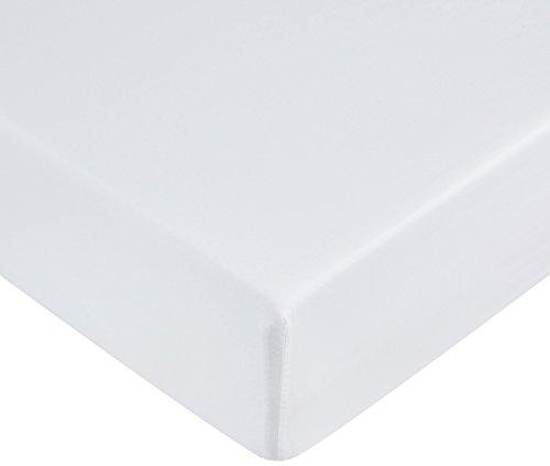 Amazon Basics Spannbetttuch, Mikrofaser, strahlend weiß, 140 x 200 x...