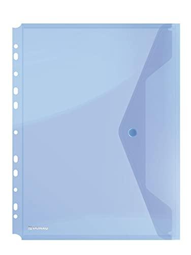 DONAU-Kuvertmappe mit Klammer 8540001PL-10 Blau, Dokumententasche zum...