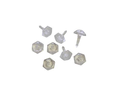 Gardinia Faltenstecker, Kunststoff, glasklar, 3.06x1.38, 50
