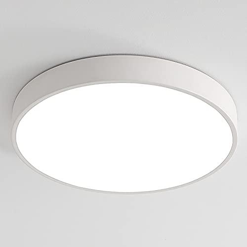 12W LED Deckenleuchte Deckenlampe, Ultraslim Ø23x5cm Warmweiß 3000K...