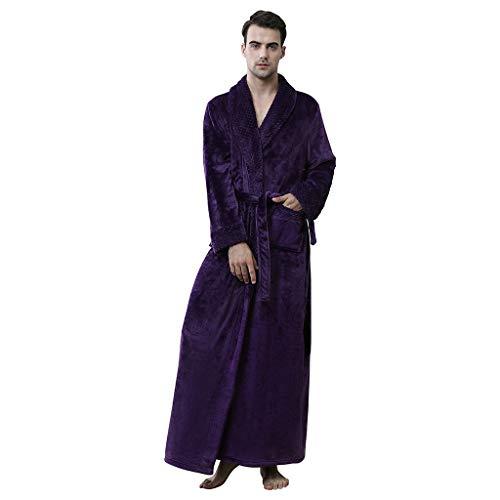 PPangUDing Bademäntel Nachtwäsche Mode Einfarbig flauschig...
