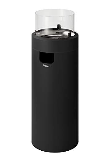 Enders® Nova LED L Feuerstelle, Schwarz/Chrom, 88