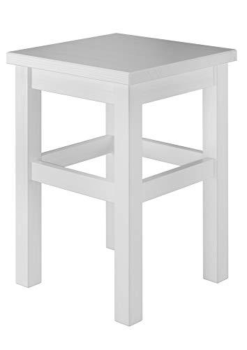 Erst-Holz® Holzhocker Massivholzsitz ohne Lehne in Kiefer massiv oder...