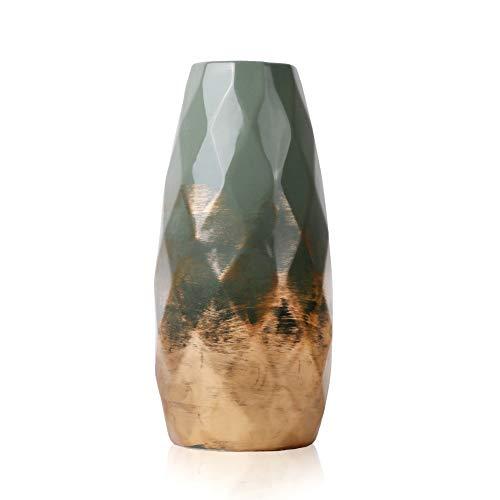 TERESA'S COLLECTIONS Grüne Golde Keramik Vase Kleine Blumenvase...