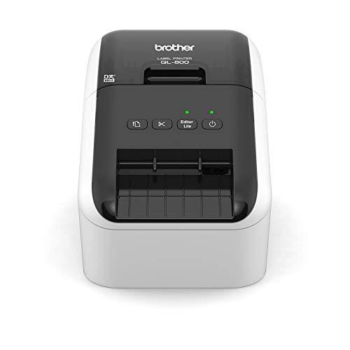 Brother QL-800 Etikettendrucker (mit Rot-Schwarz-Druckfunktion,...