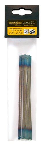 Augusta Dekupiersäge-Ersatzblätter 10 Stück 127 x 3 x 0,5 mm für...