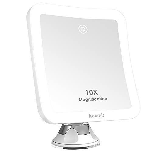 Auxmir Kosmetikspiegel LED Beleuchtet mit 10X Vergrößerung und...