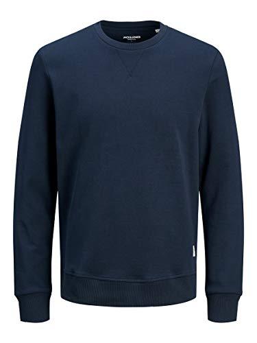 JACK & JONES Herren Jjebasic Crew Neck Noos Sweatshirt, Navy Blazer, L...