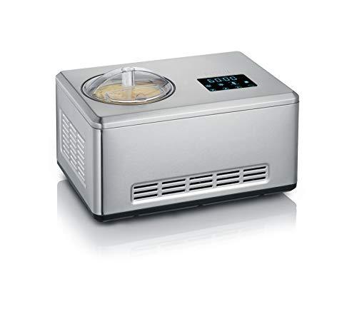 Severin 2-in-1 Eismaschine mit Joghurtfunktion, Inkl. 2 Eisbehälter...