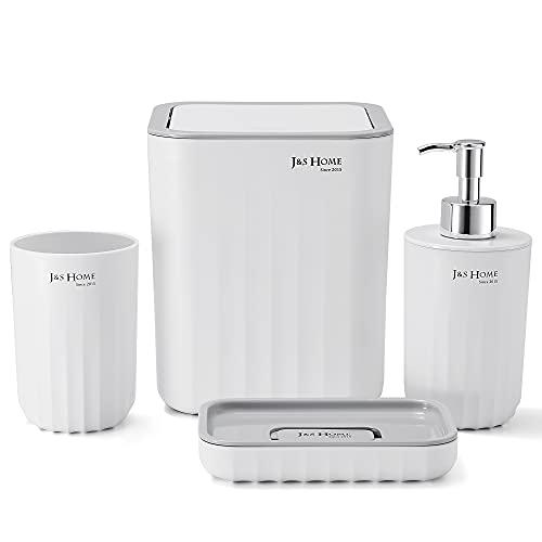 TRUSTLIFE Modernes Design 4 Teiliges Badezimmerzubehörset für...