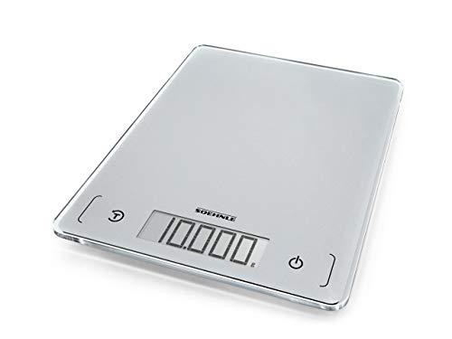Soehnle Page Comfort 300 slim, digitale Küchenwaage, silber, Gewicht...