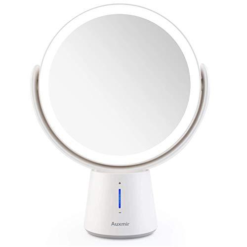 Auxmir Kosmetikspiegel LED Beleuchtet mit 1X/10X Vergrößerung und 5...