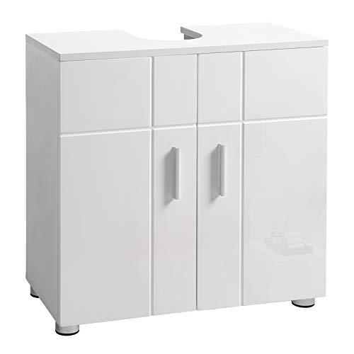 VASAGLE Waschbeckenunterschrank, Badezimmerschrank mit Doppeltür und...