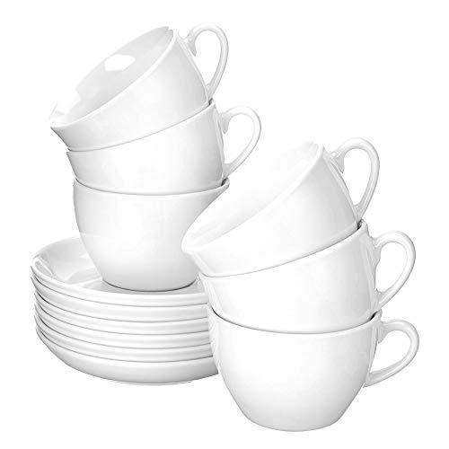 Esmeyer Cappuccino-Tassen Bistro 0,30l mit Untertasse 12-teilig,...