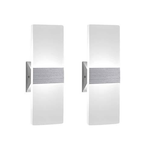 2 Stücke Wandleuchte Innen 12W Wandlampe LED Acryl Wandbeleuchtung...