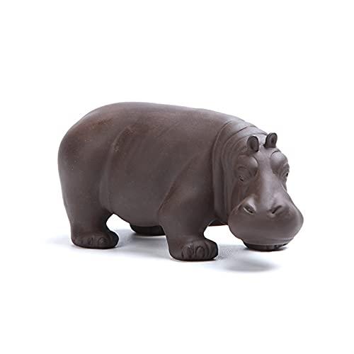 LUYIYI Hippo Tee Haustier lila Ton Tier Figuren Haushalt Büro Tee...