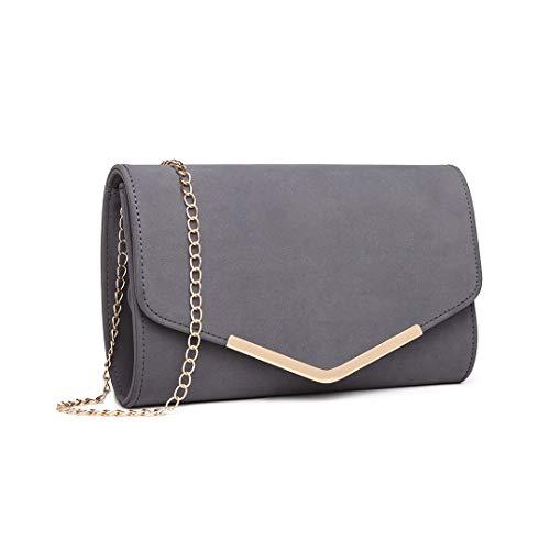 Miss Lulu Elegante Kettentasche Damen Tasche Clutch Bag Handtasche...