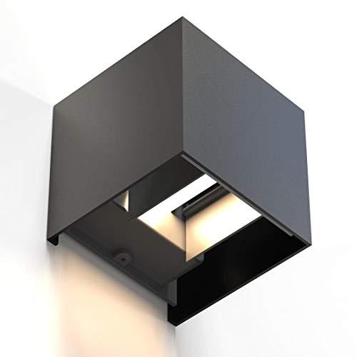 Hama LED Wandleuchte für innen und außen (dimmbare Smart Home Lampe...