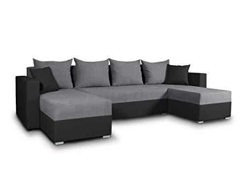 Wohnlandschaft mit Schlaffunktion Beno - U-Form Couch, Ecksofa mit...