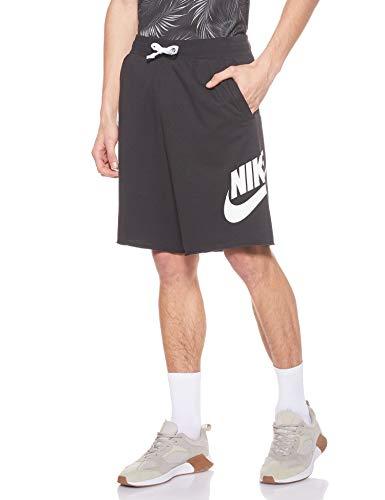 Nike Herren M NSW HE Short FT Alumni Sport, Black/Black/White/(White),...