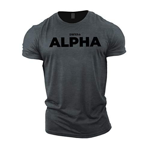 GYMTIER Alpha - Bodybuilding-T - Shirt | Herren Fitness T-Shirt...