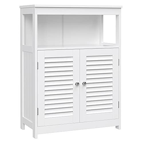 VASAGLE Badezimmerschrank aus Holz, Badezimmer Organizer,...