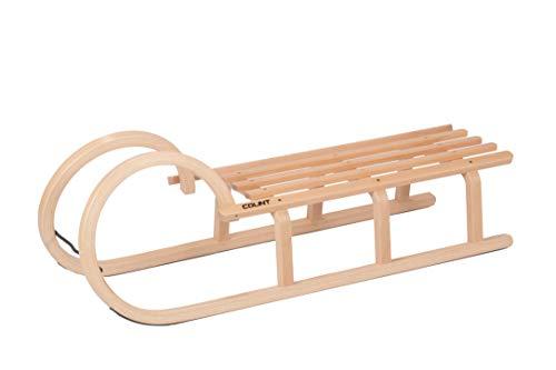 COLINT Hörnerschlitten 110 cm Holzschlitten Schlitten Holz Rodel...