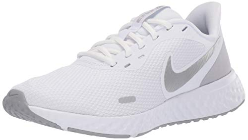 Nike Damen Revolution 5 Walking-Schuh, White/Wolf Grey-Pure Platinum,...