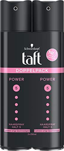 TAFT Haarspray Power Cashmere-artige Geschmeidigkeit Halt 5, 2er Pack,...