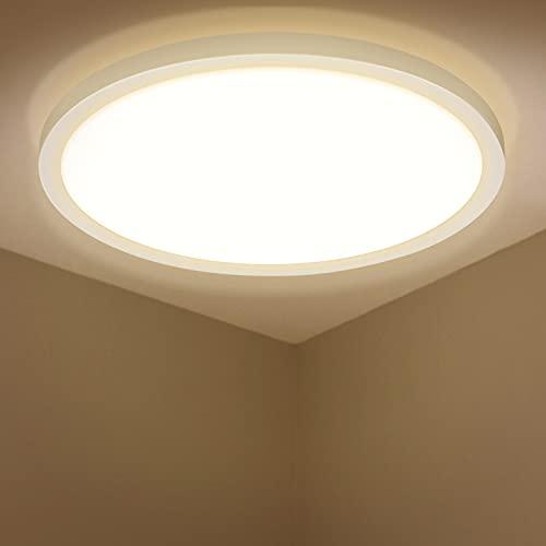 LED Deckenleuchte Rund, BIGHOUSE 18W 1600LM Flach Deckenlampe, 3000K...