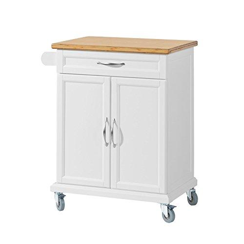 SoBuy FKW13-WN Küchenwagen mit Bambustischplatte Kücheninsel...