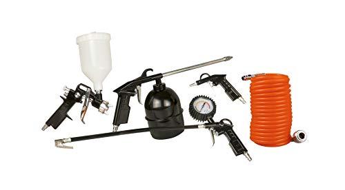 FERM Druckluftwerkzeug-Set - 5-Teilig Farbspritzpistole -...