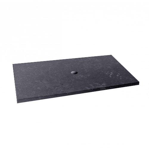 wohnfreuden Marmor Waschtischplatte Zen Marmorplatte anthrazit Bad WC...