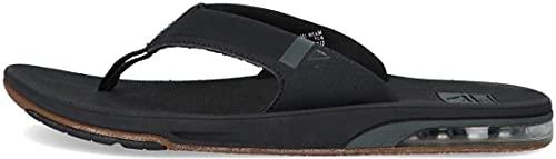 Reef Mens Fanning Low Fashion casual Flops, Black (Black Bla), 10 UK,...