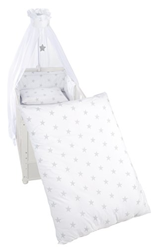 roba Kinder-Bettgarnitur 4-tlg, Babybett-Ausstattung, Bettset...