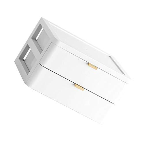 PIXNOR Make-Up Organizer 2-Lagige Kosmetische Schreibtischschublade...
