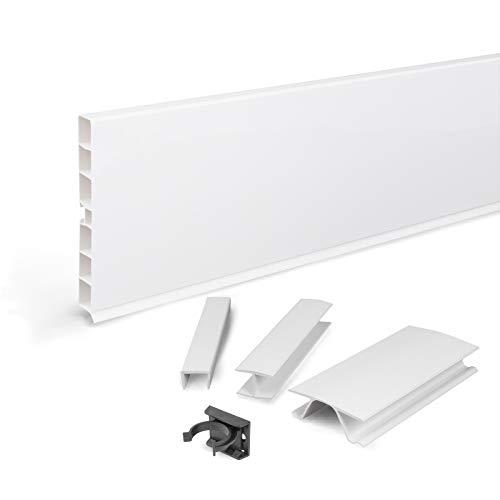DQ-PP Sockelleiste 4,5m | Sockelblende | 150mm | Weiss hochglanz |...