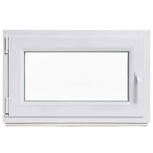 Kellerfenster - Kunststoff - Fenster - weiß - BxH: 80 x 60 cm - DIN...