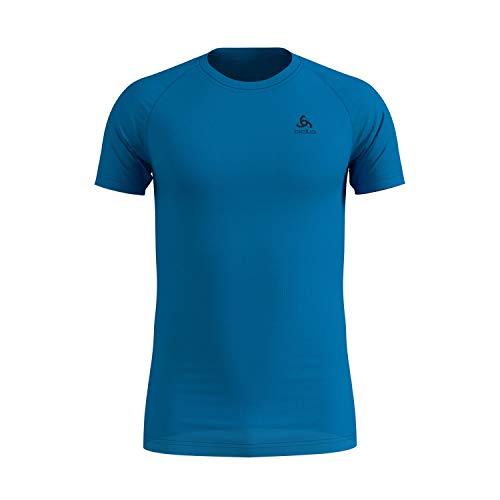 Odlo Herren BL TOP Crew neck s/s ACTIVE F-DRY LIGHT Unterhemd, blue...