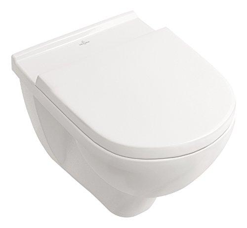 Villeroy & Boch Spülrandloses Wand-WC O.Novo mit WC-Sitz, 5660HR01,...