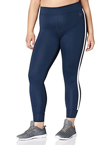 Amazon-Marke: AURIQUE Damen Sportleggings mit Seitenstreifen, Blau...