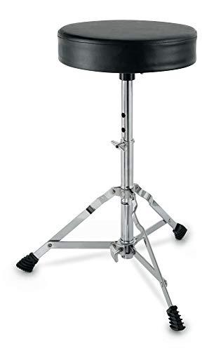 XDrum Schlagzeughocker Semi (Höhenverstellbar 50-64cm, drei...