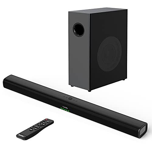 Soundbar mit Subwoofer für TV Geräte, TV Lautsprecher 2.1 Kanal...