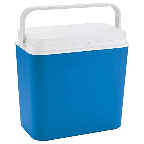 Linder Exlusiv Kühlbox 24 Liter groß - Isolierbox blau/weiß - Made...